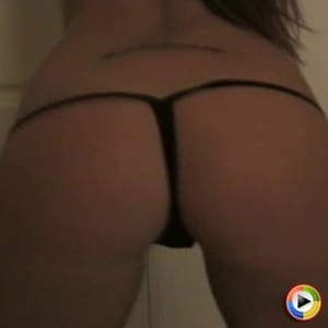 Chase The Hottie: Chase The Hottie shows off her tight perfect ass in a very skimpy black g-string as she dances