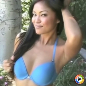 Catxoxo: cat xoxo dances in her blue bra and matching butt shorts till she takes off the bra and shows off her perky tits.
