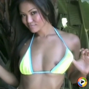 Catxoxo: cat xoxo dances and teases in a very lovely and skimpy string bikini that barely covers her perfect perky tits.